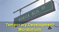 Widget image. Bonita Beach Road Temporary Development Moratorium link