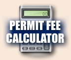 Widget image. Permit Fee Calculator link