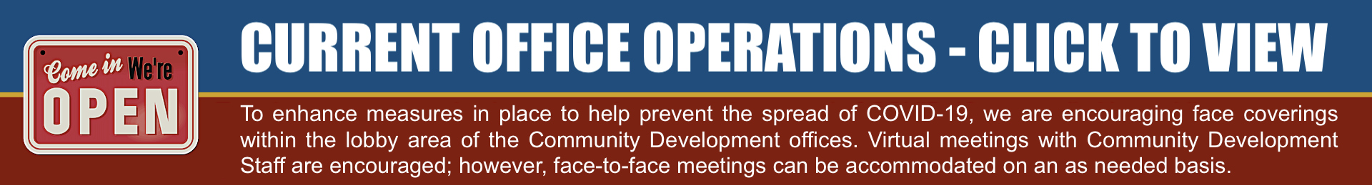 DCD Office operations banner link