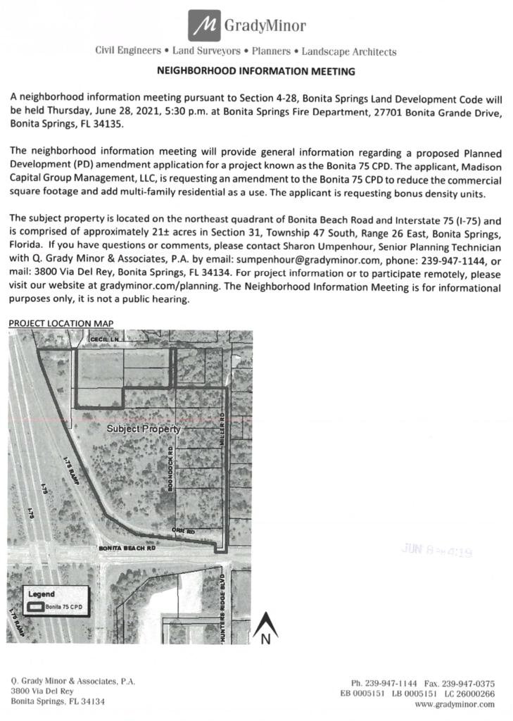 picture of sample neighborhood information notice